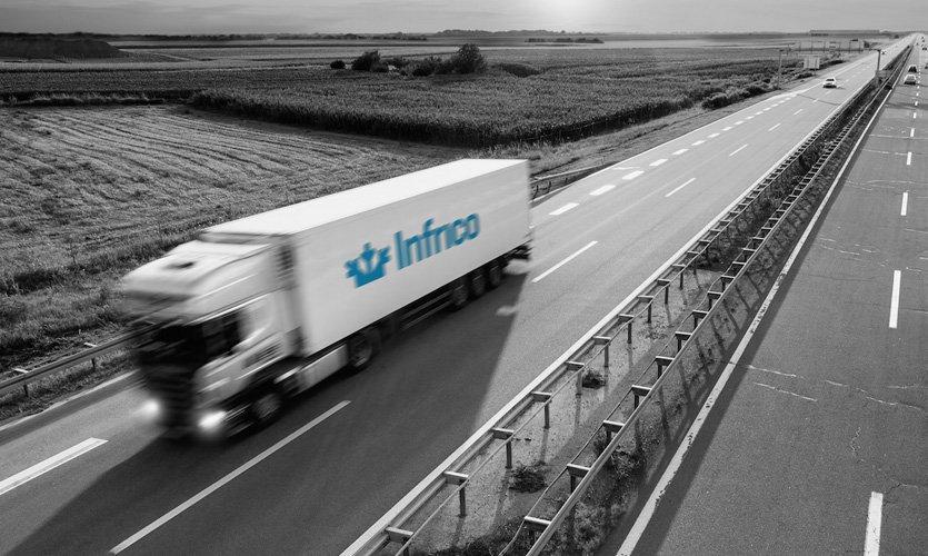 Aplicación marca Infrico a transportes