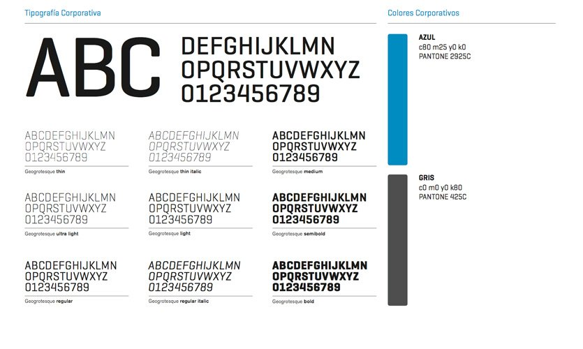 Tipografía corporativa de Infrico