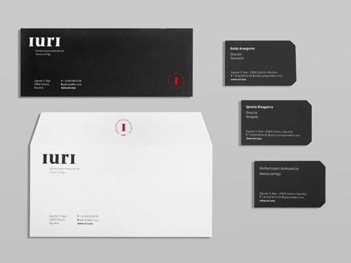 Diseño de imagen corporativa para Iuri