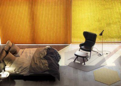 Renders 3D Fotorrealistas Para Habitat dormitorio cortinas